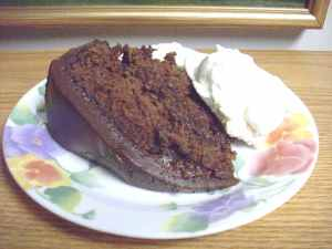 Chocolate Zucchini Spice Cake with Coconut Ice Cream